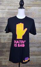 "Original Vintage ""Hatin' is Bad"" LMFAO Band Tour Black Shirt Women's Size Medium"