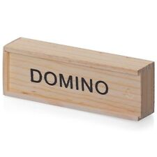 Kids Wooden Box Dominoes Set Toy Traditional Children 28 Domino Christmas Gift