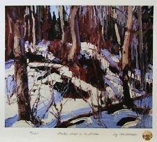 Tom THOMSON Group of Seven Winter Thaw in the Woods LTD art print MINT Algonquin