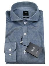 BOSS Tailored Camicia di affari t-swain in 40 (slim fit) blu marino/Bianco