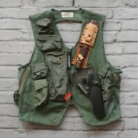 Vintage USAF US Air Force SRU-21/P Mesh Survival Vest w Camillus Pilot Knife