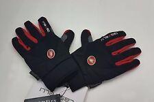 Castelli Winter Men's Cycling CW3.0 Full Finger Gloves Black Red Size L