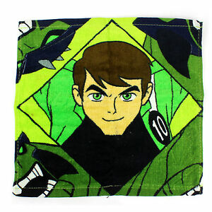 Kids Face Cloth Flanel Ben 10 Alien Force Boys Body Bath Soft 100% Cotton Green