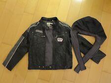 Blouson noir faux cuir de marque C&A, taille 11/12 ans