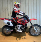 RARE Ricky Carmichael Radio Shack RC Motorcycle - Motocross FOR PARTS No Remote