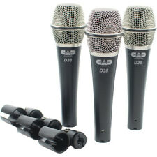 CAD - D38X3 - Supercardioid Dynamic Handheld Microphone - Pack of 3