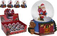 Christmas Snow Globe Christmas Snowglobe on Fire Place with Stockings Santa