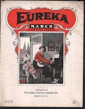 Eureka March 1923 Advertising Vacuum Cleaner Large Format Sheet Music