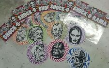 Topstone monster mask sticker set hand printed vinyl shock horror famous
