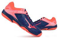 Mizuno GATE SKY 2 Badminton Shoes Navy Pink Indoor Racket Racquet NWT 71GA194061