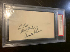 ARNOLD PALMER SIGNED/PERSONALIZED INDEX CARD w/PSA