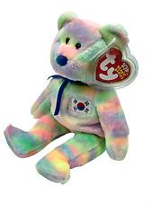 Ty Original Beanie Baby Coreana Bear Korea Country Exclusive Collectible New