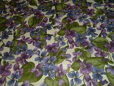 Veilchen Viola  Frühling lila  Patchworkstoff   Baumwolle
