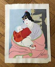 """PAUL JACOULET """"LE TRESOR' COREE"""" ORIGINAL JAPANESE WOODBLOCK PRINT. 1940"""