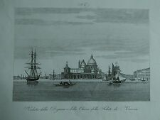 1845 Zuccagni-Orlandini Veduta della Dogana e della Chiesa della Salute Venezia