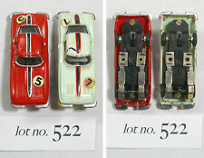 2pc 1960s Hong Kong Kader 1964 Chevy Corvette Coupe Slot Car Rare Matched Pr 522