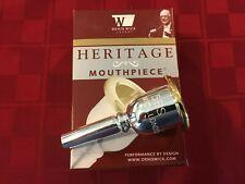 DENIS WICK HERITAGE SMALL SHANK TROMBONE MOUTHPIECE 3180-5BS - GOLD RIM