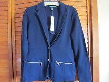 Ralph Lauren Capri  100% Cotton  navy blue blazer great for spring sz M