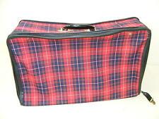 schöner alter Koffer Stoff Karo Reisekoffer - Vintage Design, retro Kult