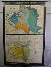 Schulwandkarte Wandkarte Teilung Polen-Litauen 18. 20.Jh mapa Polska 137x215