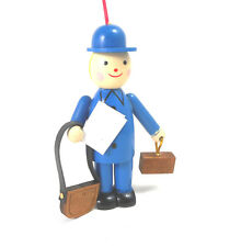Blue Postal Worker Wooden Ornament by Midwest-CBK