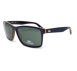 LACOSTE Sunglasses L705S 421 Dark Blue Rectangle Men's 57x13x140