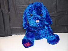 "Anico Chinese Symbol ""HAPPINESS"" Vibrant Blue Puppy Plush Stuffed Animal"