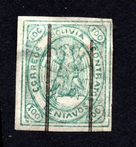 Bolivia 1867-68 stamp Mi#4a used CV=140€