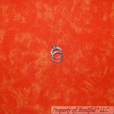 BonEful FABRIC FQ Cotton Quilt Orange Bright Tone Shade Lg Swirl Texture Blender