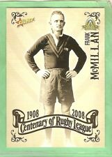 2008 RUGBY LEAGUE CENTENARY CARD #30  FRANK McMILLAN, BALMAIN, WESTS
