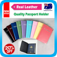 Passport Holder Cover Card Case Protector Real Leather Travel Wallet Organizer