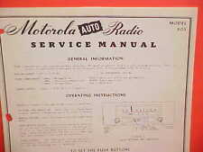 1949 DODGE CORONET PLYMOUTH DELUXE CONVERTIBLE MOTOROLA AM RADIO SERVICE MANUAL