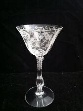 Cambridge Glass Company Elaine etched cocktail glass stem 3121 Crystal 3 oz