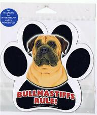 Bullmastiff Rules Waterproof Bumper Sticker Magnet Nip
