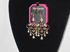 Juicy Couture Rhinestone Chandelier Earrings YJRU6756