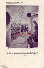 """pre-1907 Hamburg - Amerika Linie - Am Bord Des Doppelschrauben """"Graf Waldersee"""""""