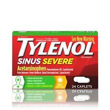 Tylenol Sinus Severe Non-Drowsy Day Cold & Flu Relief Caplets, 24 ct, ex 8/20