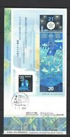China Hong Kong 2000 FDC S/S Hologram CELEBRATE THE 21st CENTURY Stamp