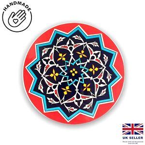 Traditional Turkish Designs Ceramic Round 16 Cm Trivet Hot Pad Hot Plate