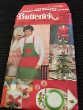 BUTTERICK 5092 CHRISTMAS ACCESSORIES. TABLECLOTHS PLACE MATS COVERS APRON TREE