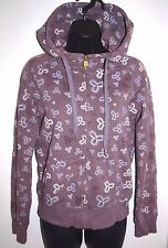 TNA Size XS Womens Purple Logo Full Zip Hoodie with Drawstring