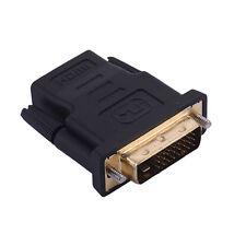 DVI D 24+1 Link Plug DVI Male To HDMI Female Socket Converter Adapter for HDTV