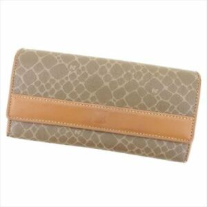 Nina Ricci Wallet Purse Beige Brown PVC Leather Woman unisex Authentic Used I516