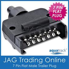 AQUATRACK 7 PIN FLAT MALE TRAILER CONNECTOR PLUG- Boat/Caravan/Auto/Car/Truck/RV