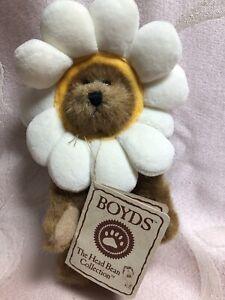 Boyds Bear Plush Peeker Bear Petals Daisydew