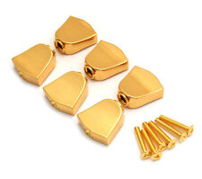 (6) Gold Keystone Buttons for Gotoh Sealed Guitar Tuners TK-7715-002