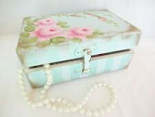 byDas Beach Cottage Pink Rose Box storage hp hand painted chic shabby vintage
