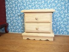 2 DRAWER END TABLE -UNFINISHED-  DOLL HOUSE  MINIATURE
