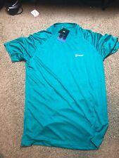 Tsla Men's HyperDri Short Sleeve T-Shirt Athletic Cool Running Top Turquoise M