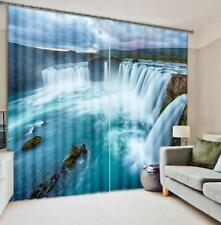 3D Waterfall 33 Blockout Photo Curtain Printing Curtains Drapes Fabric Window Us